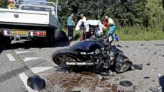 Motorrijder geschept bij aanrijding Provincialeweg