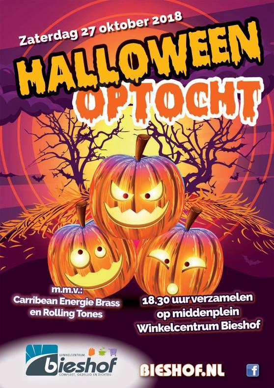 Halloween Zwijndrecht.Halloweenoptocht Winkelcentrum Bieshof Dordtcentraal